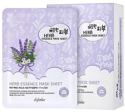 Маска тканевая c травами Esfolio Pure Skin Herb Essence Mask Sheet