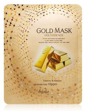Маска тканевая c золотом Esfolio Gold Essence Mask Sheet