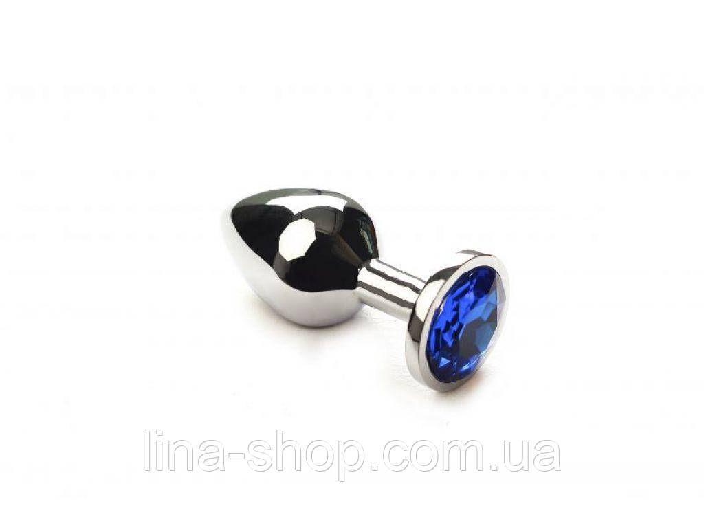 SLash - Анальная пробка утяжеленная, Silver Sapphire, M (281148)