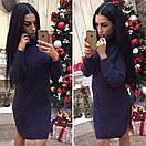 Теплое вязаное платье с воротником в расцветках l-41plt2381, фото 2
