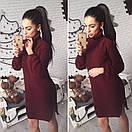Теплое вязаное платье с воротником в расцветках l-41plt2381, фото 3