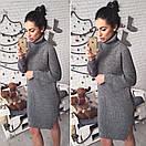 Теплое вязаное платье с воротником в расцветках l-41plt2381, фото 4