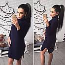 Теплое вязаное платье с воротником в расцветках l-41plt2381, фото 5