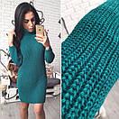Теплое вязаное платье с воротником в расцветках l-41plt2381, фото 7