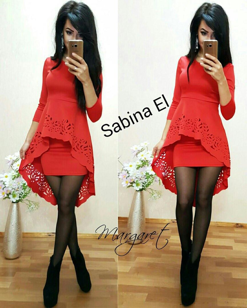 Облегающее платье с удлиненной баской g-7plt2446
