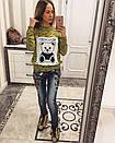 Яркая женская кофта с принтом у-33dis478, фото 4