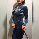 Женская велюровая кофта у-49dis496, фото 4