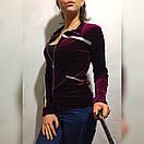 Женская велюровая кофта у-49dis496, фото 5