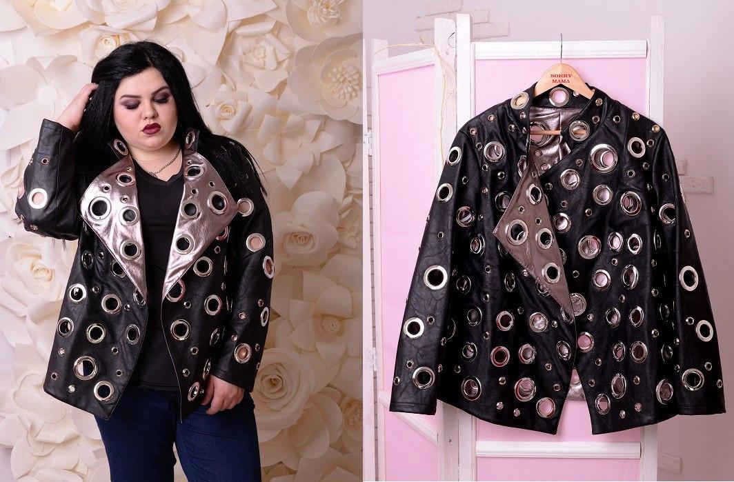 Женская куртка большого размера е-t10blr1178