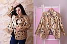 Женская куртка большого размера е-t10blr1178, фото 3