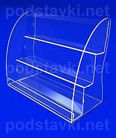 Подставка для косметики Подставка под лаки для ногтей, акрил 3, габариты (ШхВхГ) 294х245х140 мм (KM-48)