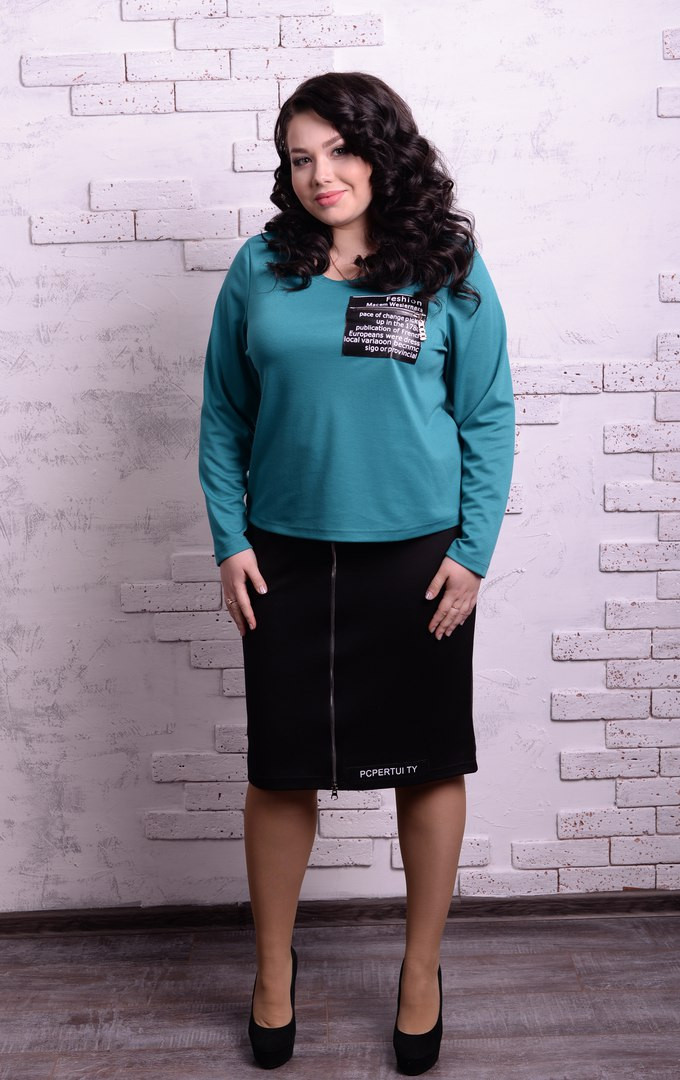 Женская юбка в батальных размерах n-t10blr1231