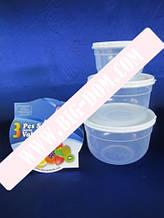 Судки круглые глубокие Набор лотков Дуня 30010 лотки контейнеры пищевые 3 штуки