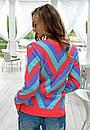 Яркий женский свитер у-t61dis512, фото 6