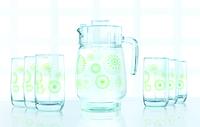 Набор для воды 7пр. luminarc Green flakes 6131l