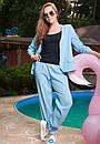 Стильный женский льняной костюм у-t61kos564, фото 2