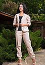 Стильный женский льняной костюм у-t61kos564, фото 6