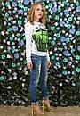 Женский свитшот с ярким 3D принтом x-t61dis606, фото 2