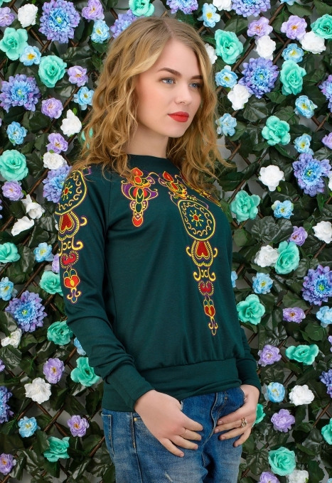 Женская кофта с красивым принтом в расцветках z-t61dis605