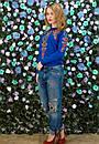 Женская кофта с красивым принтом в расцветках z-t61dis605, фото 8