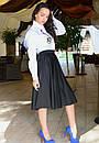 Белая женская рубашка у-t61bir342, фото 2