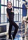 Модный женский черный комбинезон w-t61kos612, фото 2