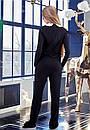 Модный женский черный комбинезон w-t61kos612, фото 3