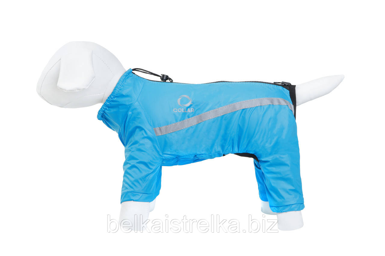 Дождевик Д 472 №14 для породы собак спаниель из нейлона Collar Теремок, 183312 синий, 74*46 см