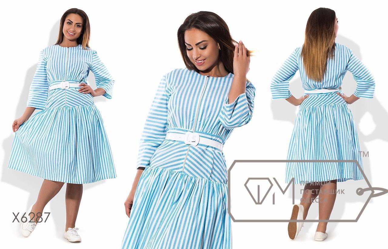 Яркое женское летнее платье в больших размерах н-t15blr1281