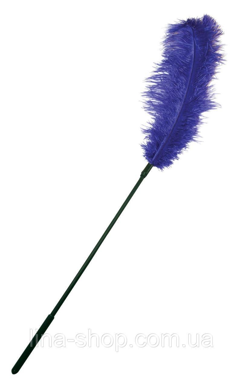 Щекоталка с пером страуса Sportsheets Ostrich Tickler Фиолетовая