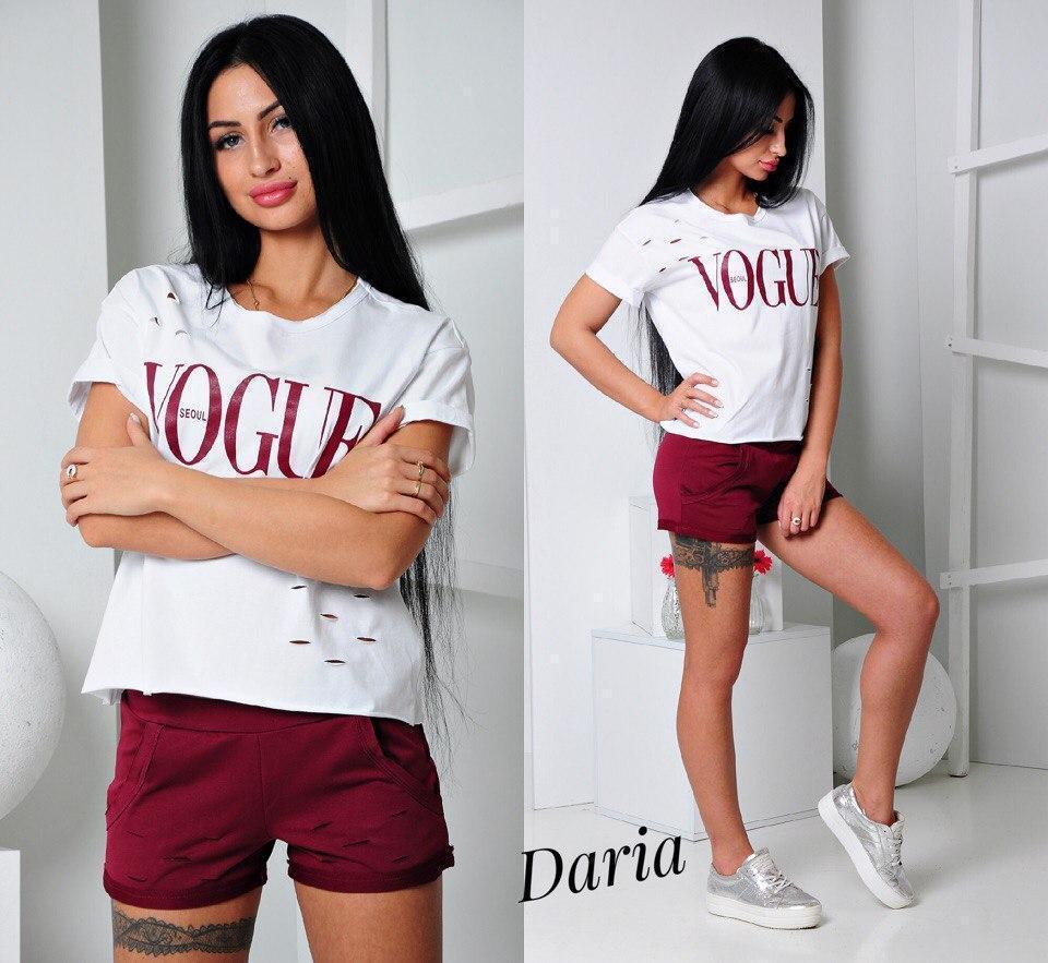 Женский летний костюм (шорты и футболка) d-t55057