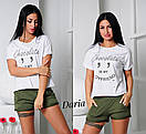 Женский летний костюм (шорты и футболка) d-t55057, фото 5