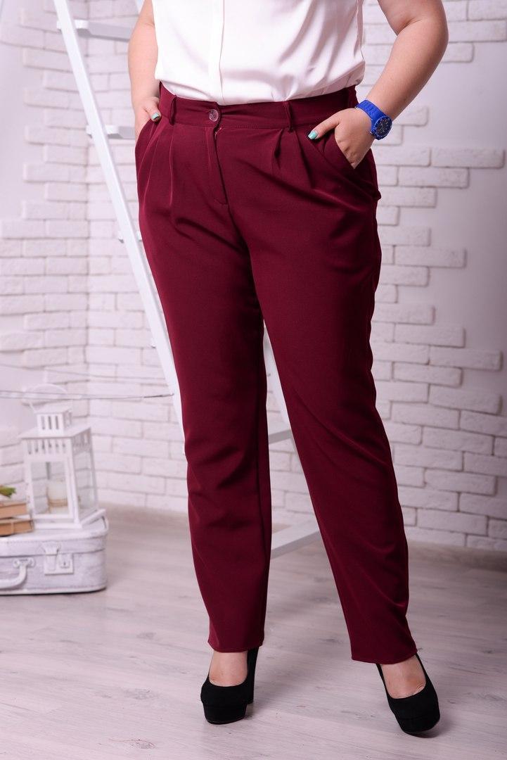Женские классические брюки в больших размерах w-t10blr17