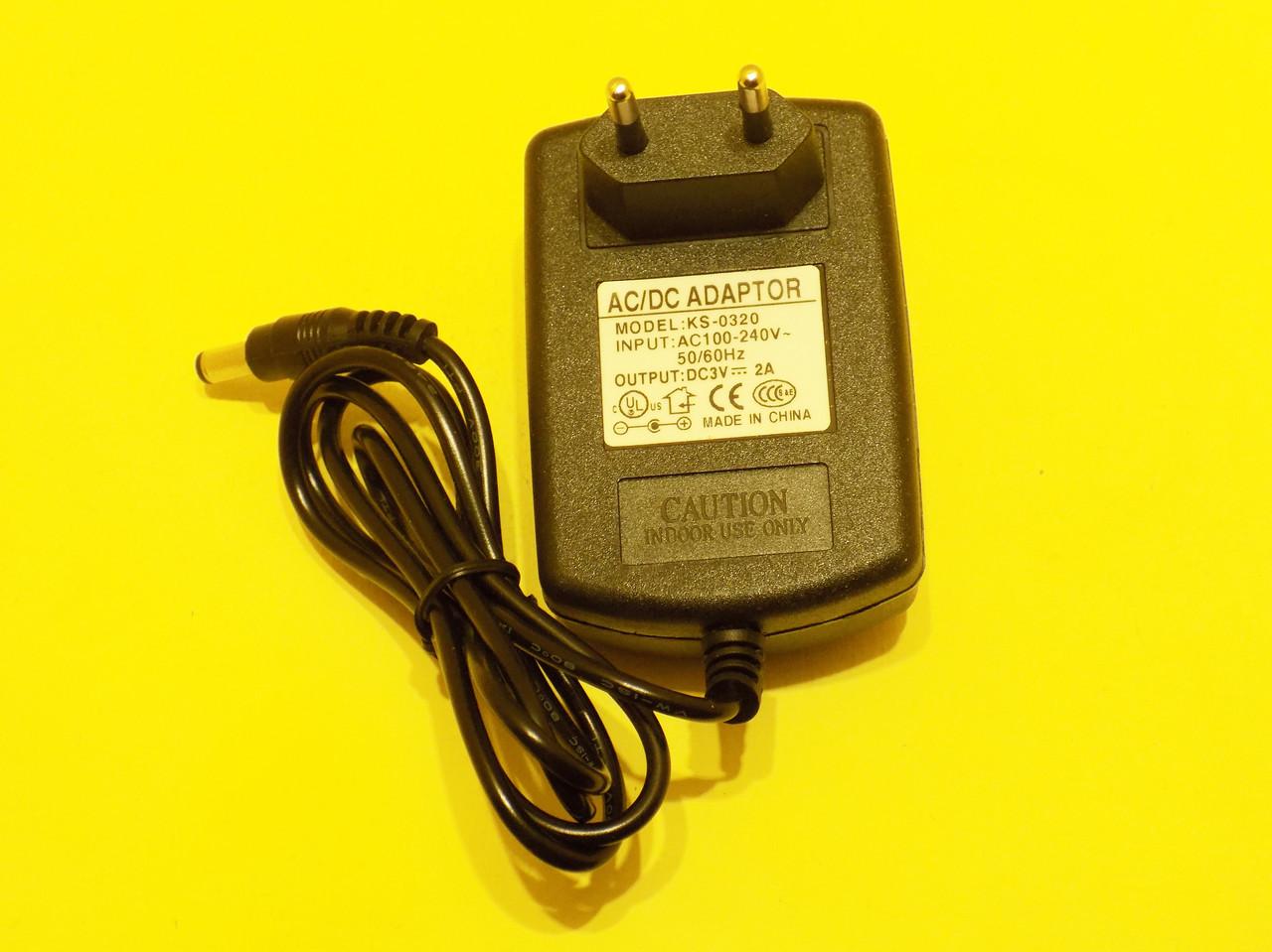 Premium Блок питания 3 вольта 2 Ампера AC220v to DC 3v 2A