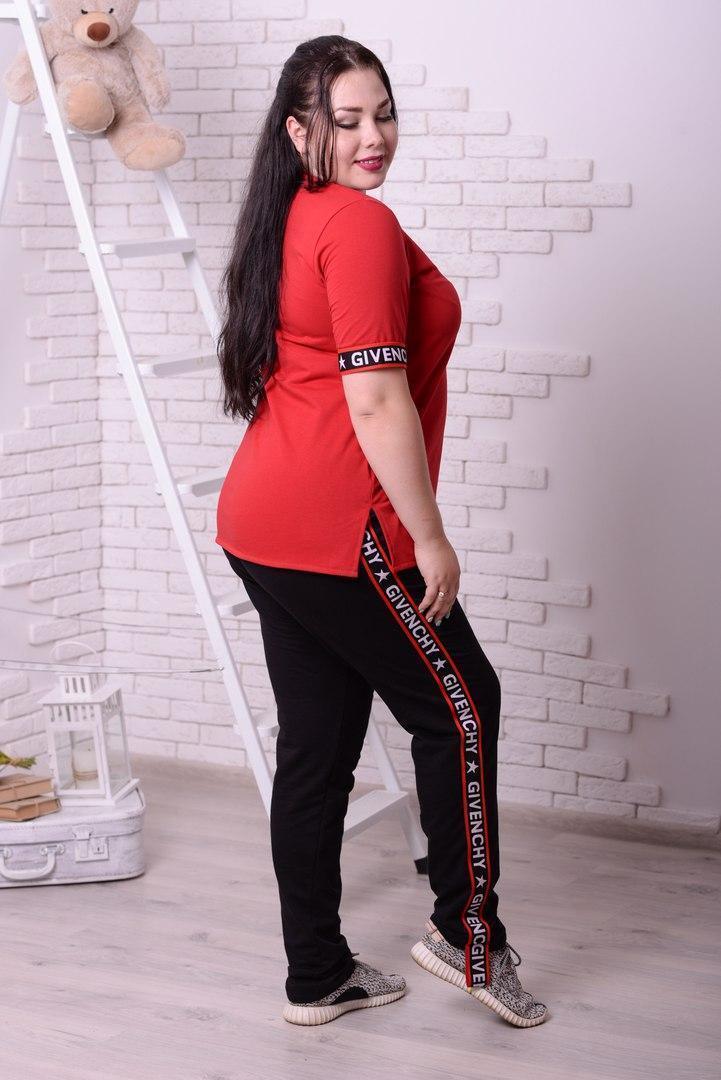 Женский спортивный костюм (батал) в расцветках i-t10blr23