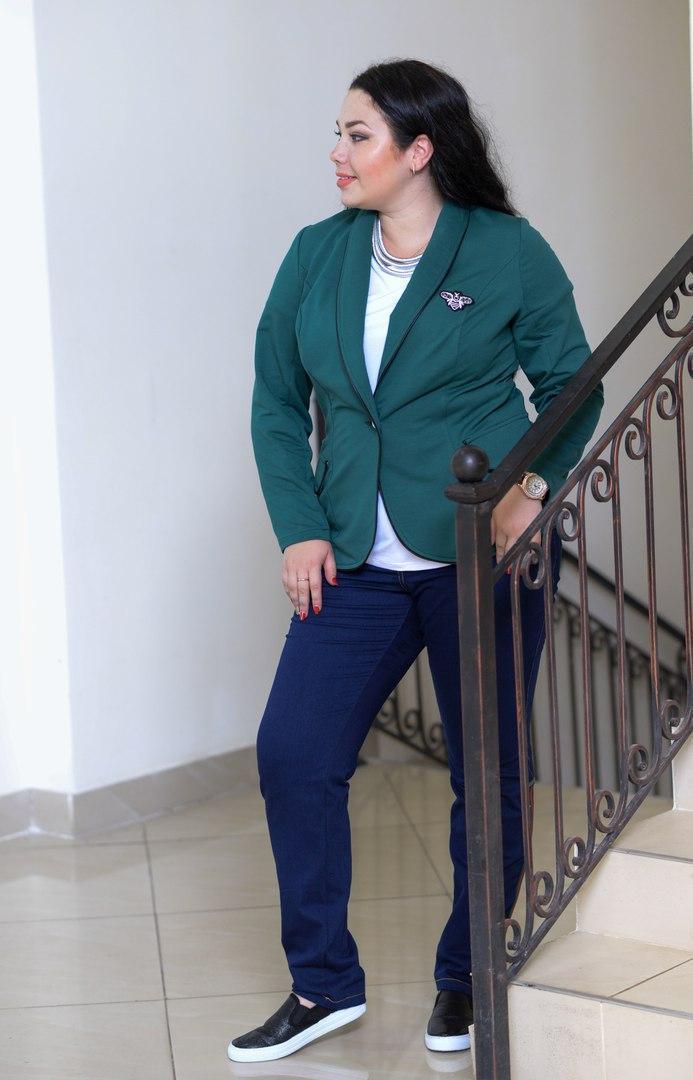 Женский пиджак в больших размерах (4 цвета) i-t10blr74