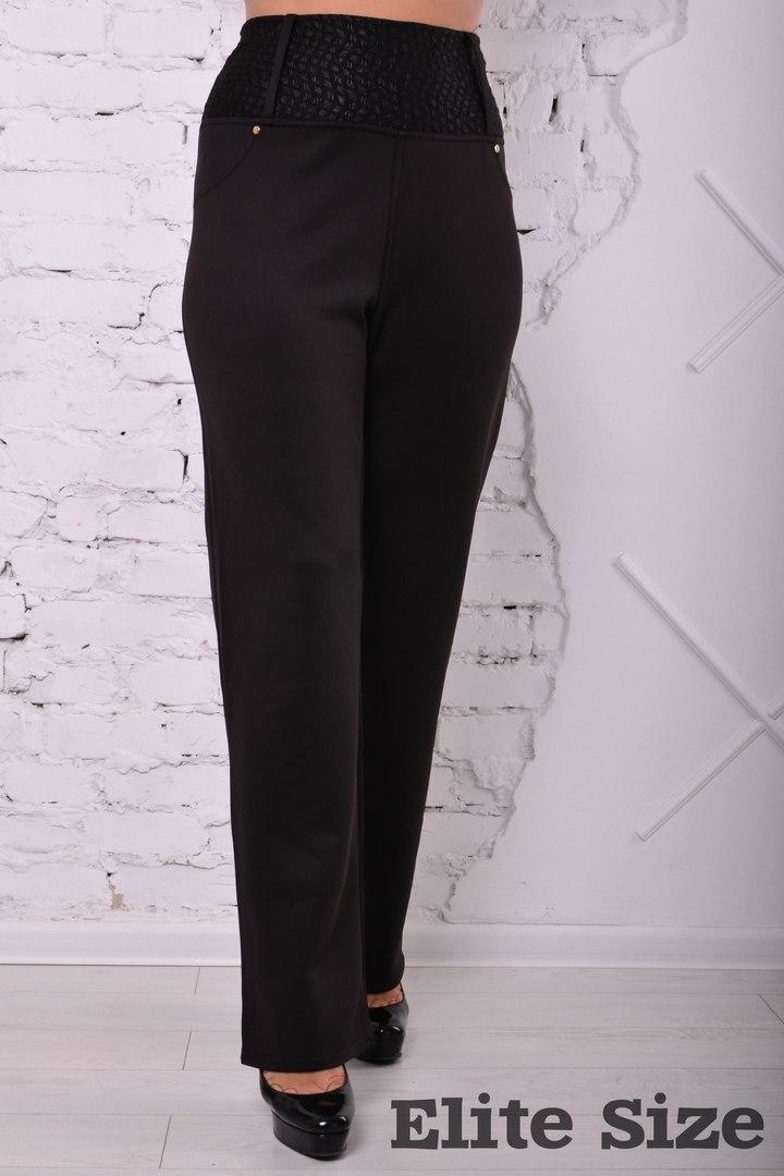 Женские батальные брюки на высокой посадке k-6blr126