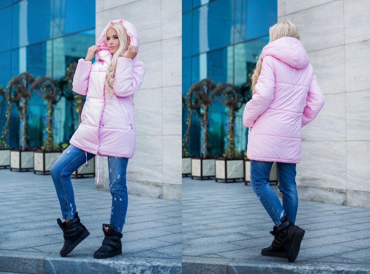 Молодежная прямая плащевая куртка с капюшоном в расцветках 31kur8