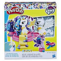 Play-Doh My Little Pony Принцессы Кантерлот Твайлайт Спаркл, Селестия и Принцесса Луна Canterlot Court