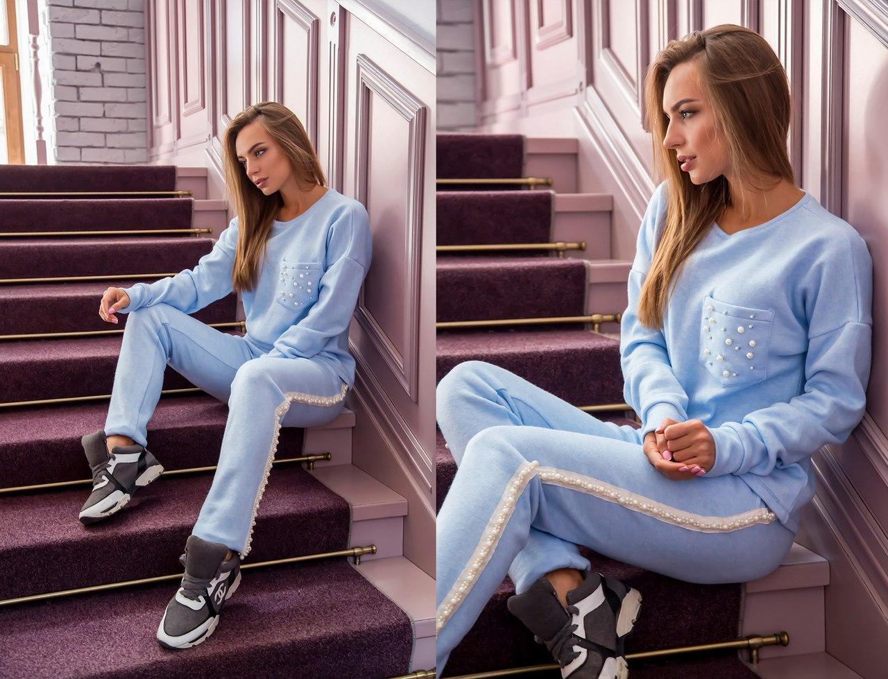 Женский костюм из неопрена с ангорой (кофта и штаны) в расцветках 31spt76