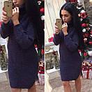 Теплое вязаное платье с высокой горловиной 41plt212, фото 6