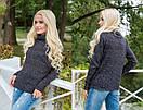 Вязаный свитер с высокой горловиной в расцветках 31dis94, фото 3