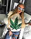 Женский теплый свитер с рисунком (шерсть) 18dis105, фото 3
