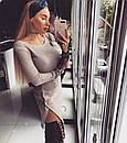 Теплое вязаное платье с разрезами на ногах 18plt300, фото 2