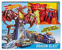Хот Вилс трек Атака драконов  Hot Wheels Dragon Blast Playset