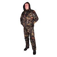 Костюм зимовий куртка під гумку + штани ФЛІС UkrCamo ЗКШДРф 48р. Дубок темний, фото 1