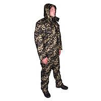Костюм зимовий куртка пряма + штани UkrCamo ЗКШПД 52р. Піксель темний, фото 1