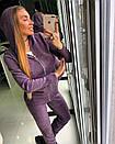 Вязаный женский спортивный костюм на молнии и с капюшоном 18spt154, фото 3