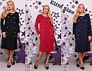 Замшевое платье в больших размерах миди длиной 6blr293, фото 2