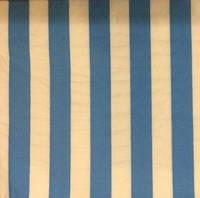 Салфетки праздничные бумажные голубые в полоску 10 шт